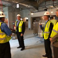Congressman Tom Reed tours new facilities at the UR/St. James Hospital in Hornell.